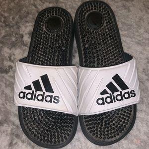 Adidas White Slides